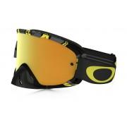 Oakley O2 Mx - Frame: INTIMIDATOR GUN METAL YELLOW Lens: 24K IRIDIUM & CLEAR - Ski et Snowboard Lunettes