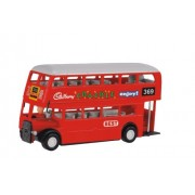 Toyztrend Pull Back Double Decker Bus Deluxe For Kids - Red