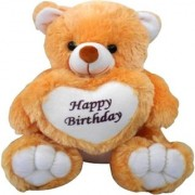 StarOne Collections Teddy Bear Soft Toy Happy Birthday With Heart -56 cm (Brown)