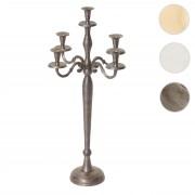 Kerzenleuchter HWC-D81, Kerzenständer Leuchter Kerzenhalter, 5-armig aus Aluminium 60cm massiv 1,6kg ~ Variantenangebot