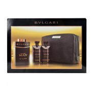 Bvlgari Man In Black 100Ml Edp 100Ml + 75Ml After Shave Balm + 75Ml Shower Gel + Cosmetic Bag Per Uomo (Eau De Parfum)