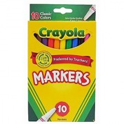 Crayola Classic Fine Line Markers 10 Count ( Case of 24 )