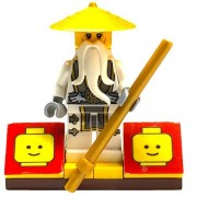 B&FMinifigurePacksÌĉÛ_Ìå¨ - Ninjago Minifigurepacks: Lego Ninjago Bundle (1) Flying White Dragon Sensei Wu Minifigure (1) Figure Display
