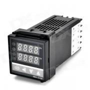 """""""1.2 """"""""24V REX-C100 K-Tipo de control de temperatura LED + termopar - Negro"""""""
