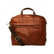 Geanta Fossil Buckner Workbag Leather Messenger Bag - Maro