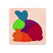 Hape-Elephant & Baby (George luck Puzzle)
