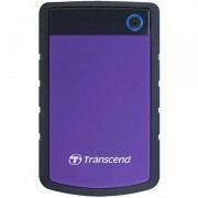 Transcend 2TB StoreJet 25H3 USB3.0, rubber casing, military-grade shock resistance with 3-stage shock protection, 3yrs, purple, Quick Reconnect Button TS2TSJ25H3P
