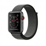 Apple Watch Series 3 Cellular 42mm Aluminum Case with Sport Loop MQK62 Space Grey (Спортивный ремешок цвета оливковый)