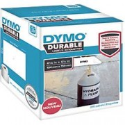 Dymo LW Durable Label Roll 1933086 Black on White Self Adhesive 104 mm x 159 mm 200 Labels
