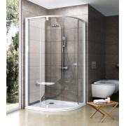 Ravak Pivot PSKK3-80 Háromrészes negyedköríves zuhanykabin fehér kerettel és fogantyúval transparent edzett biztonsági üveg betéttel 37644101Z1