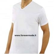 Axiom T-Shirt uomo Axiom in fresco filo di scozia con scollo a V largo