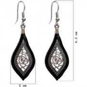 D G Jewellery Trendy Oxidised Plating Black Color Earring For Girls Women