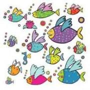 > ADESIVI MURALI REMOVIBILI - FLYING FISHES - SIZE XL WALLSKIN (unit