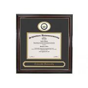 Signature Announcements Marco de Diploma de graduación con Sello de Aluminio esculpido de la Universidad de Cedarville, 16 x 16 Pulgadas, Color Dorado Brillante Caoba