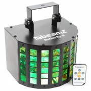 Beamz Butterfly II LED Mini Derby 6x3W, RGBAWP, IR (Sky-153.713)