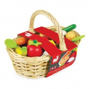 Janod 24 piece Wooden Fruit and Vegetable Basket 3-8 ys