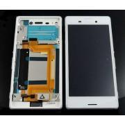 Дисплей + Tъч скрийн + Рамка за Sony Xperia M4 Aqua Бял