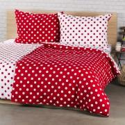 Lenjerie pat 1 pers., 4Home Buline roșii, bumbac, 140 x 200 cm, 70 x 90 cm, 140 x 200 cm, 70 x 90 cm