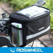 Roswheel 3.5L Bike Handlebar Bag Bicycle Front (Negro)