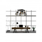 EMIBIG lighting Lampadario Orientabile VESTA 4A BLACK