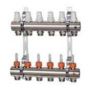 Distribuitor cu debitmetre si robineti termostatici K013 - 7 cai
