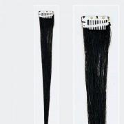 Solida Bel Hair Mini Stringy Jamie Echthaar-Strähne Schwarz