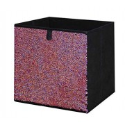 Organize It All Collapsible Fabric Storage Cube Pink to Black Sequin