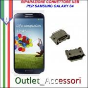 Sostituzione Riparazione Saldatura Porta Connettore Jack Usb Carica Ricarica per Samsung Galaxy S4