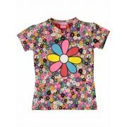OChill! Meisjes Shirt Korte Mouw - Maat 104 - All Over Print - Katoen/elasthan