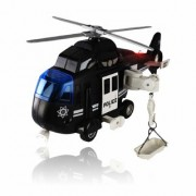 Morgan Sellers 116 Big Size Toy Helicopter Chopper for Kids with Lights and Sounds Friction Powered (BLACK)
