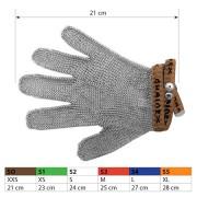 Ochranné kovové rukavice S0 Brown