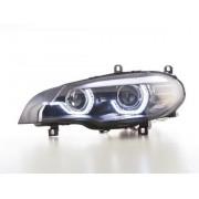 FK-Automotive fari Xenon Daylight LED con luce di marcia diurna DRL BMW X5 E70 anno di costr. 06-10 nero