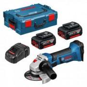 BOSCH PRO Meuleuse Angulaire sans fil BOSCH GWS 18-125 V-LI Professional 2 X 6,0 Ah