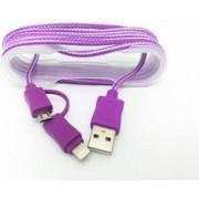 Cablu De Date 2 In 1 Iphone 56 + Micro Usb Mov pt Telefon Tableta
