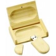 aavehi WOOD BOX PENDRIVE 16 GB Pen Drive(Brown)