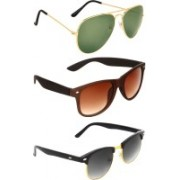 Zyaden Aviator, Wayfarer, Clubmaster Sunglasses(Green, Brown, Black)