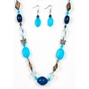 Just Women Genuine Jade Necklace and Earing Set