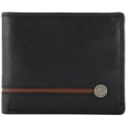 Fastrack Men Black Genuine Leather Wallet(9 Card Slots)