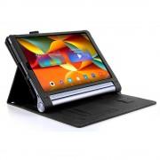 Shop4 - Lenovo Yoga Tab 3 Pro Hoes - Book Cover Lychee Zwart