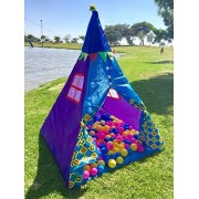 Kids Playhouse Tent, Ball Pit Play House Castle for Happy Children, Outdoor and Indoor, Storage Box, TENT TEEPEE(Balls Not Included) by Flyspro