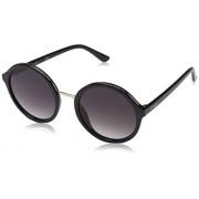 GUESS Women's Gradient Gu7558 GU7558-F-01B-54 Black Round Sunglasses