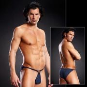 Blue Line Performance Metal Ring Microfiber Pouch Bikini Underwear Navy Blue BLM022