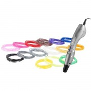 FreeSculpt 3D-Pen Drucker-Stift FX2-free mit Display, inkl. 15er-Set ABS-Filament