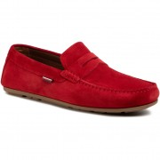 Мокасини TOMMY HILFIGER - Classic Suede Penny Loafer FM0FM02725 Primary Red XLG