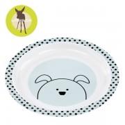 Lassig Talerz dla dzieci do jedzenia z melaminy Little Chums Pies,