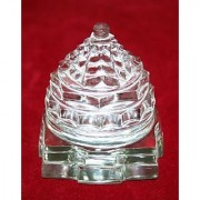 Mantra Siddha Crystal Shri Yantra On Lotus 140 Gram