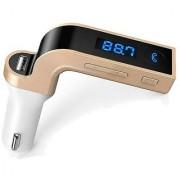 Techvik CARG7 LCD Bluetooth Car Charger FM Kit MP3 Transmitter USB Handsfree Mobile