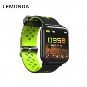 LEMONDA D6 Smart Bracelet 1.3-inch Color Screen Waterproof Heart Rate Monitor Bracelet for Android iOS - Green