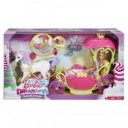 Set Barbie Dreamtopia cu caleasca si unicorn