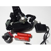 Мощен LED фенер за глава с акумулаторни батерии и Т6 диод
